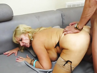 Hot Blonde Mature Blows and Fucks.