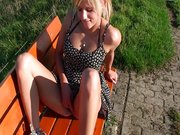 Creampie in german park-Extrem public-