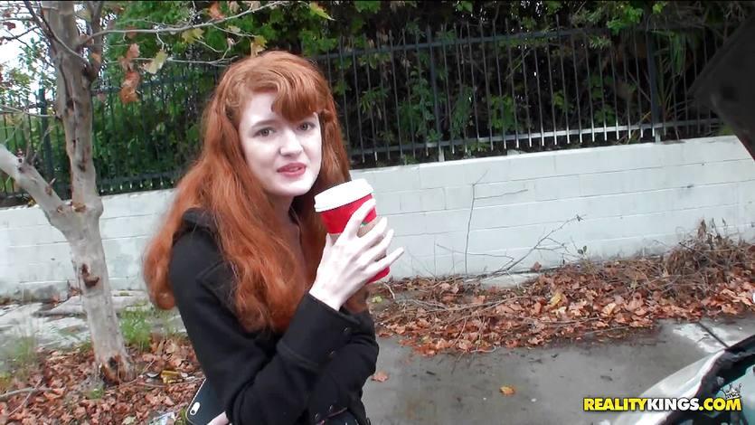 Redhead Abbey Rain stranded and fucked | PornTube ®
