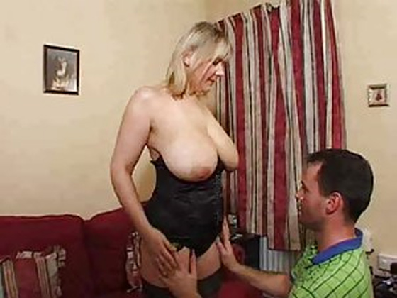 Mature blonde super big saggy tits - Mature porn
