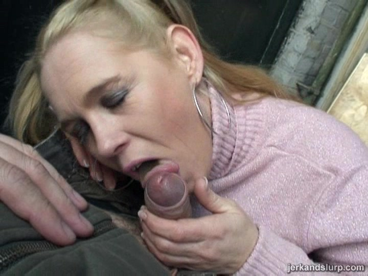 Pretty Cougar With Big Pierced Tits Licking And Sucking A Stranger's Cock