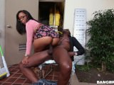 Ebony Chick Rides Black Dong