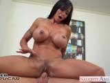 Busty brunette cougar Jewels Jade fucking