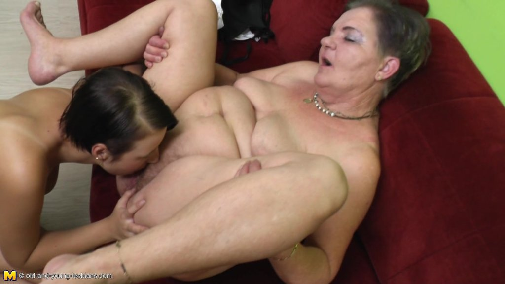 Granny Has The Best Sex Of Her Life With A Lesbian Teen Slut