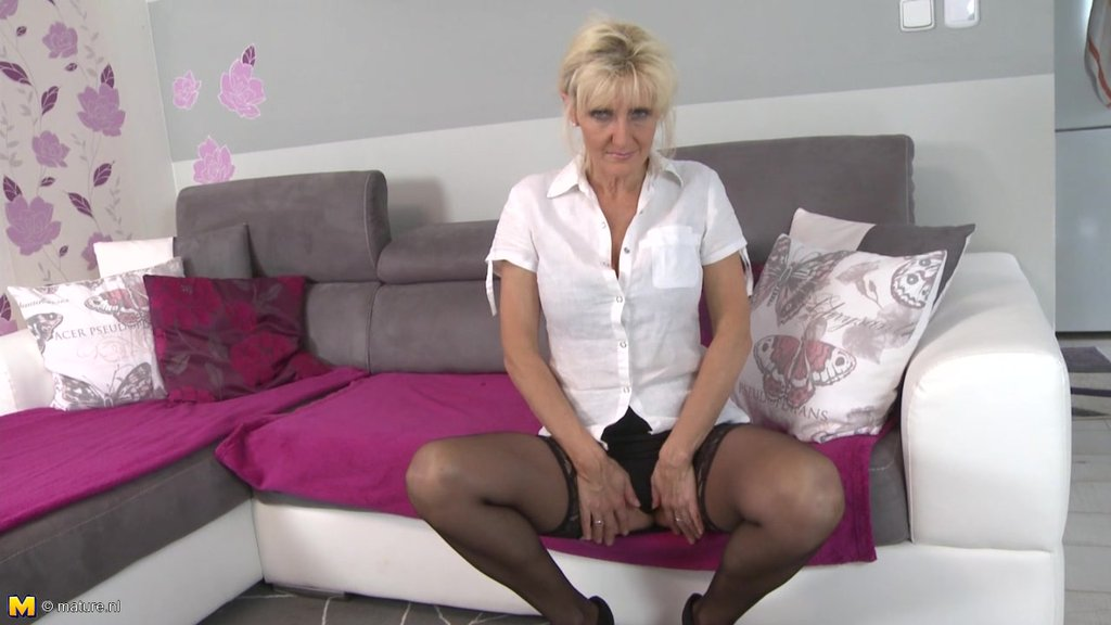 Big Boobed Mature Blonde In Stockings Needs Steamy Naughty Sex