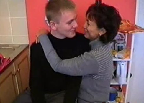 Horny Mature Fucking A Young Cock In The Kitchen