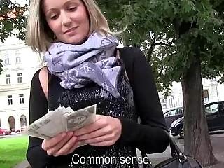 Eurobabe Blanka Grain paid for fucking