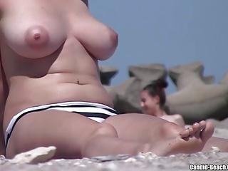 Topless Beach Girls Closeups Voyeur Hd