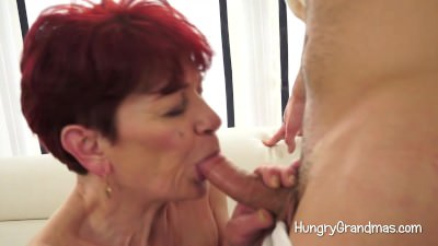 Lustful Granny Seduces A Youngster - Mature sex video