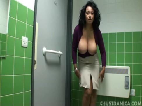 Danica Collins (Donna Ambrose) In Public Toilet