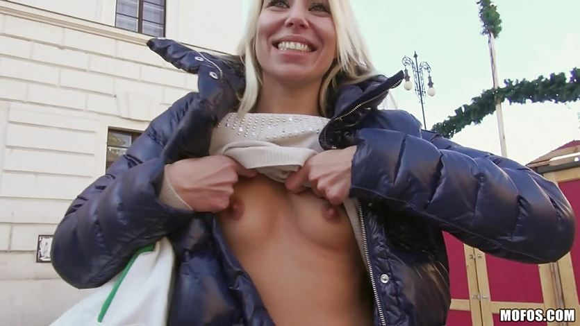 Cute blonde Cynthia Fox babe picked up in Hungary and fucked... | PornTube ®