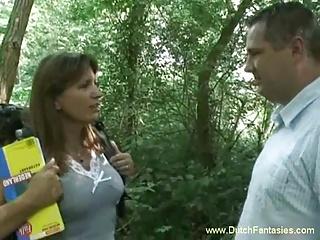 Dutch MILF Fucked In The Woods