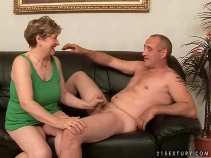 Grandpa fucks fat grandma on the couch on GotPorn