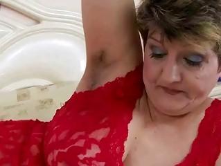 Hairy fat grandma gets fucked hard