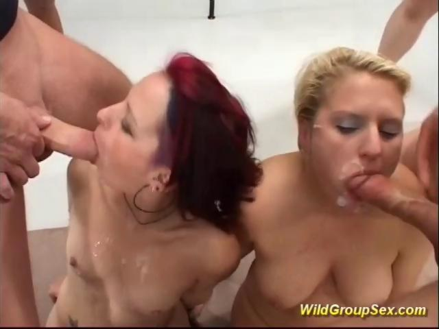 hot gangbang with two german chicks on GotPorn