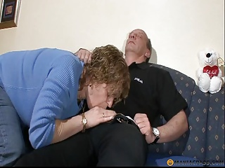 Polish my cock with mouth and pussy