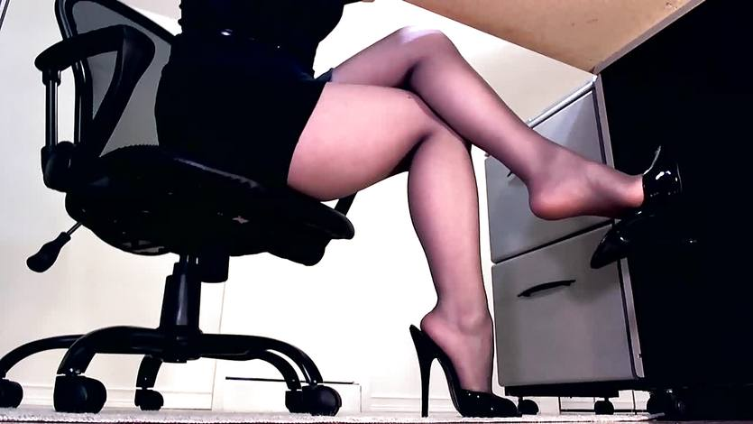 Compilation of secretary legs and masturbation | PornTube ®