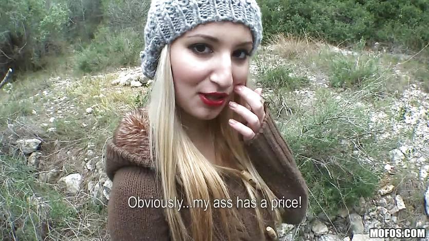 Cute spanish girl Daytona X fucked in the woods | PornTube ®