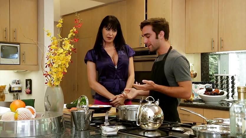 Eva Karera takes the action from kitchen to sofa | PornTube ®