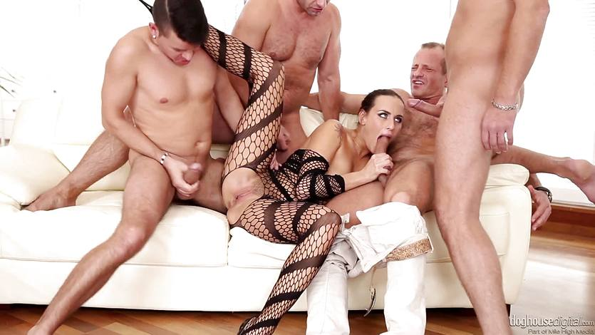 Mea Melone drilled in her hot pussy by four hunks | PornTube ®