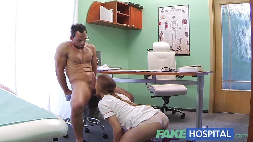 FakeHospital sexy male patient cums in dirty nurse | PornTube ®