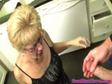 Mature cumblasted granny tugging pov style