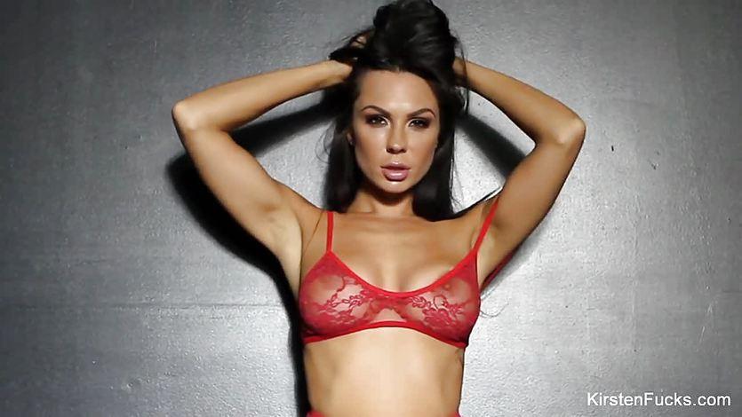 Busty brunette Kirsten Price toys her ass | PornTube ®
