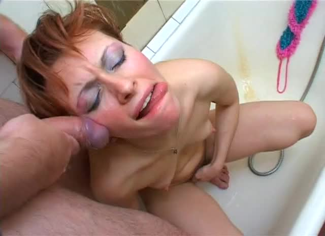 Horny Russian Mom Enjoys Sucking A Prick In The Bathroom