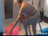 Granny Mea The Pool With Dildo Inflatable