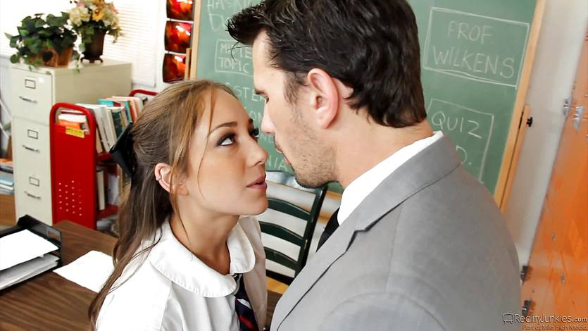 Succulent schoolgirl Remy Lacroix gets a length from the teac... | PornTube ®