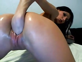 Skinny Girl Fisting her Tight Pussy