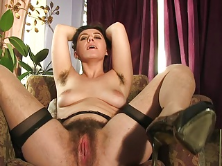 Hairy legs in stocking 2