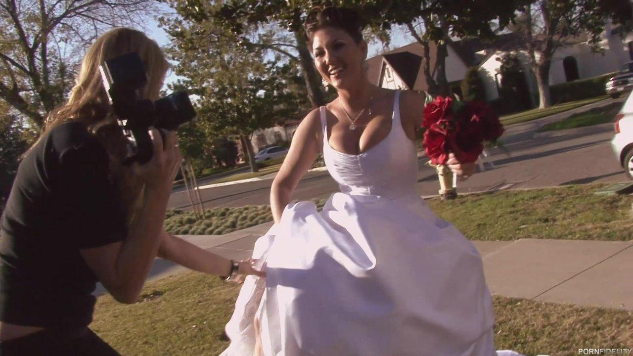 Big Tits Beauty In A Wedding Dress Fucked By A Groomsman