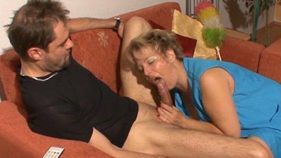 Mature mom sucking hard dick balls deep before riding cock on top - Mature porn