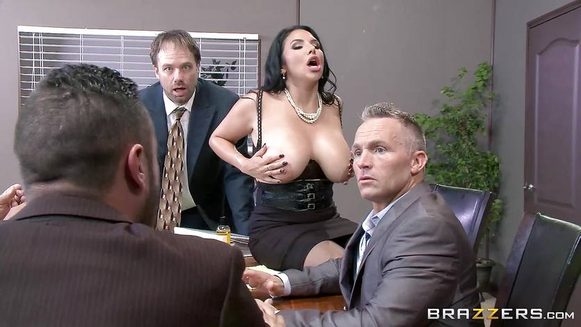 Big titted office girl Missy Martinez gets it across the meet... | PornTube ®