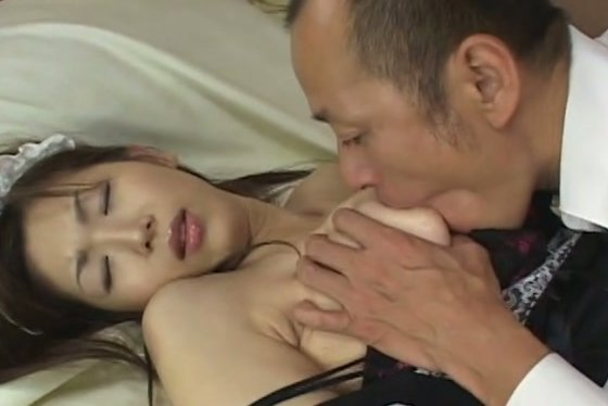 Attractive maid Mai Hanano getting fingered upskirt - Asian porn