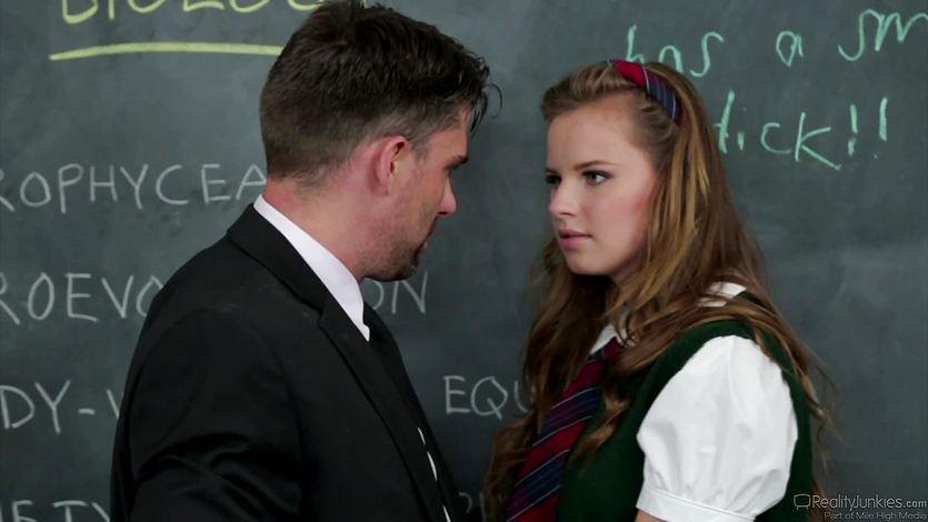 Jillian Janson enjoys each inch of her teachers cock | PornTube ®