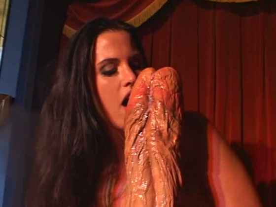 Brunette slut fucks herself. Deep dildo penetration - Toys porn