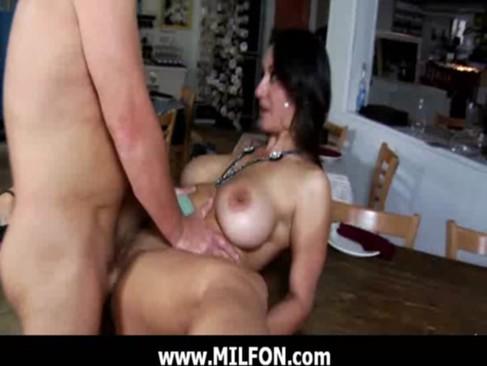 Naughty milf babe fucking with stranger 1