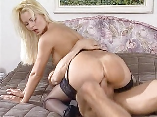 Nikki Anderson fucking in black stockings