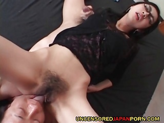 Uncensored Japanese Teen porn with hairy AV idol