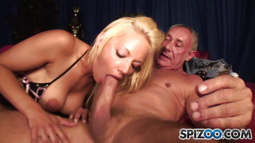 Grandad plays with british blonde beauty Lou Lou | PornTube ®