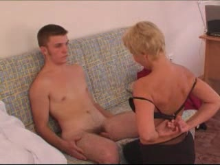 Mature Blonde Woman Gets Fucked From Behind By Younger Guy