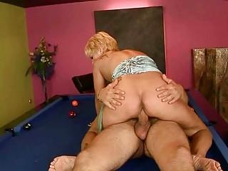 Grandma enjoys hard sex with a boy