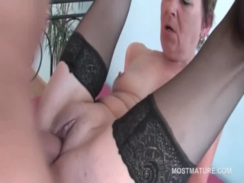 Orgy brunette mature fucks cock and cunt at once