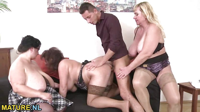 Three amateur mature ladies sharing a stud | PornTube ®