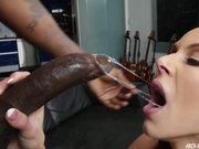 Kendra Lust loving a huge black cock