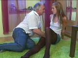 Old man fucking his son's girlfriend