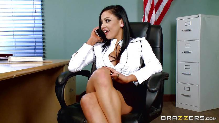 Naughty teacher Audrey Bitoni gets a dick in detention | PornTube ®