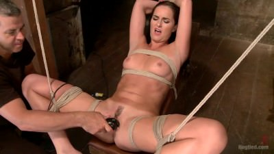 Bianca Breeze tied and made to orgasm
